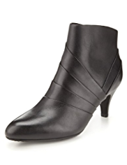 Footglove™ Leather Pleated Ankle Boots