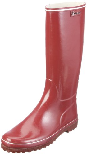 Aigle Women's Venise Crimson Wellington Boot 24513 5 UK, 38 EU
