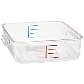 Rubbermaid Commercial Products FG630200CLR Carb-X Space Saving Container