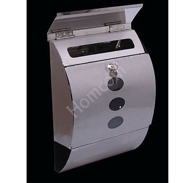 Generic Mailbox Letterbox Postbox Mail Post Letter Newspaper Box Lockable Steel Sliver