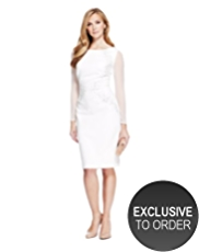M&S Collection Drop a Dress Size Scattered Sequin Bodycon Dress with Secret Support™