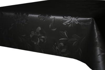 Wachstuch Tischdecke Flora in schwarz abwischbar von Mein-Haushalt24 - Gartenmöbel von Du und Dein Garten
