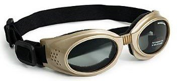 Dog Goggle Sunglasses with Metal Frame and Smoke Lenses - Chrome, Small