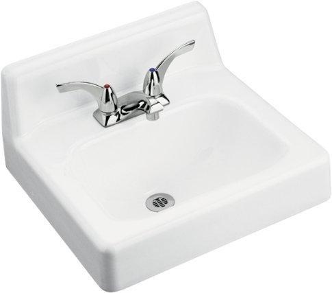 Buy Bathroom Sink Wall Mounted by Kohler - K-2867 in White (Kohler Sinks, Plumbing, Sinks, Bathroom)
