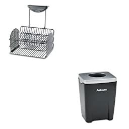 KITFEL22317FEL8032801 - Value Kit - Fellowes Perf-Ect Partition Additions Three-Tray Organizer (FEL22317) and Fellowes Office Suites Paper Clip Cup (FEL8032801)