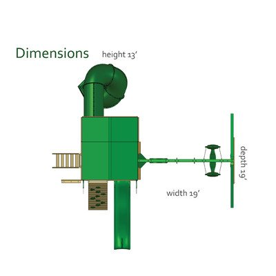 Great Skye I Canopy: Green Vinyl