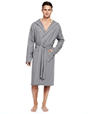 Autograph Pure Cotton Hooded Dressing Gown