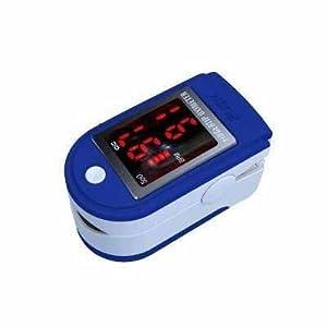 doigt oxymètre SPO2 de pouls & Moniteur de fréquence cardiaque avec des instructions, cordon et étui de transport - ecran LED - bleu foncé ou noir