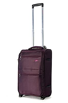 "Cabin Approved 18"" & 21"" Lightweight Hand Luggage, Ryanair/Easyjet/BA Cabin Approved Wheeled Trolley Suitcase Bags, Trolley Wheeled Luggage Bags for 55x40x20cm & 50x40x20cm carry on small baggage."