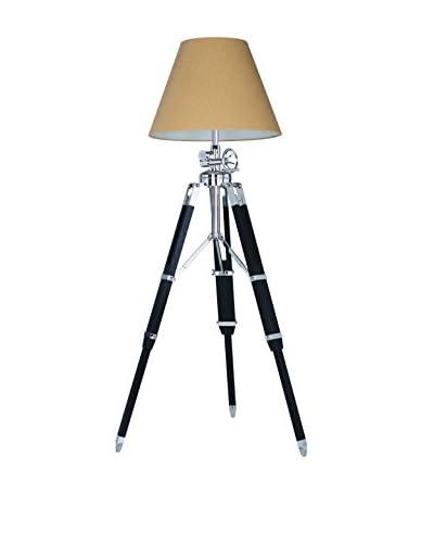 Urban Lights 86.5 Ansel 1-Light Tripod Floor Lamp, Chrome/Black