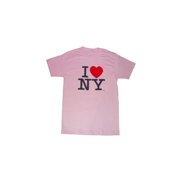 ADULT/CHILD PINK HEAVY COTTON I LOVE NY T SHIRT