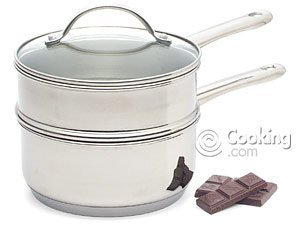 Double Boiler 2 Quart Polished Stainless Steel by RSVP