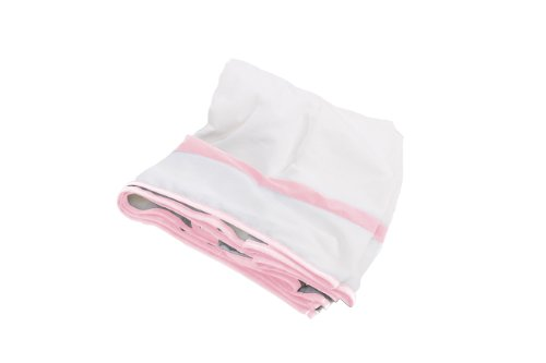 Baby Doll Modern Hotel Style Crib Dust Ruffle, Pink front-971545