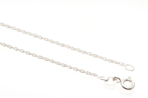 Birth Stone Jewels Sterling Silver 925 Grade Rope Chain, 16 Inch Long x 1.20mm Thickness