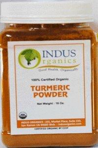 Indus Organic Turmeric Powder Spice Pack 1 Lb