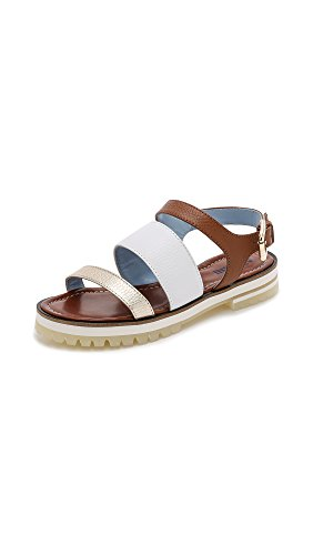 Studio Pollini Women's Three Band Flat Sandals
