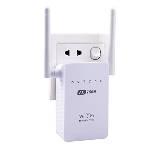 NoyoKere AC750 Dual Band Wi-Fi Range Extender Wireless Repeater 802.11N Booster Signal Amplifier (Laptop Wifi Range Booster Antenna compare prices)