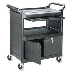 B;ack Heavy Duty Polypropylene Utility Cart