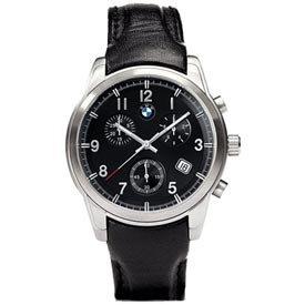 Genuine BMW Men's Black Leather Chrono Watch from BMW
