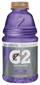 Gatorade G2 Low Calorie Grape Thirst Quencher Sports Drink 32 Oz (Pack Of 12)