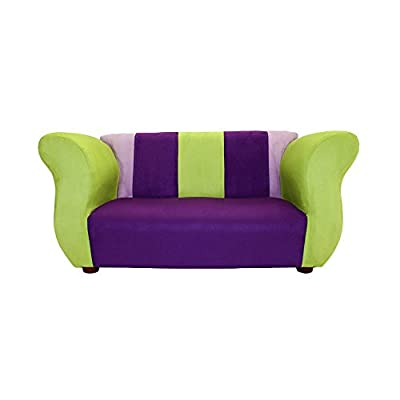 Fantasy Furniture Fancy Sofa - Purple and Green