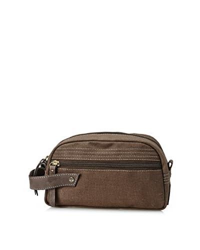 Timberland Men's Canvas Travel Kit, Brown