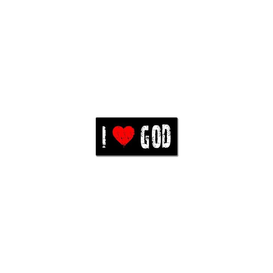I Love Heart God   Window Bumper Sticker