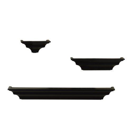 Melannco Shelves (Solid Black, Set of 3) b shelves