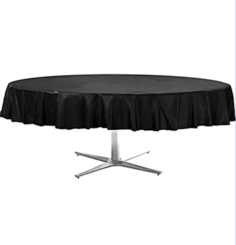 Table Cover Round 84 Inches-Black [3 Retail Unit(s) Pack] - 77018.10