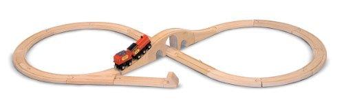 Melissa & Doug Classic Wooden Figure Eight Train Set Toy, Kids, Play, Children front-697157