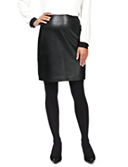 M&S Collection Leather Ponte Mini Skirt