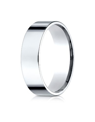 Flat Traditional Edge Comfort Fit Platinum Wedding Band - 6mm