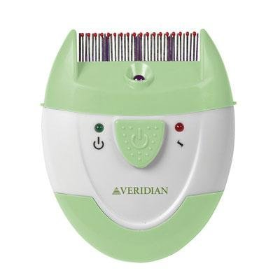 Veridian Healthcare Finito Electronic Lice Comb, Green/White