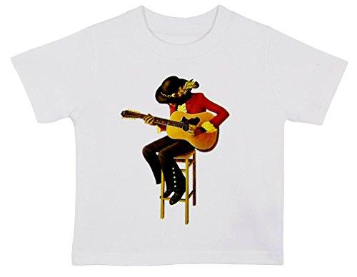 Jimi Hendrix illustrazione Baby T Shirt bianco White 3-6 mesi