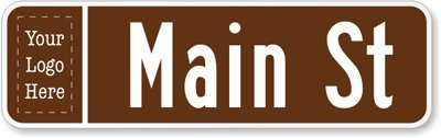 Customized Sign (white on brown), 30″ x 9″