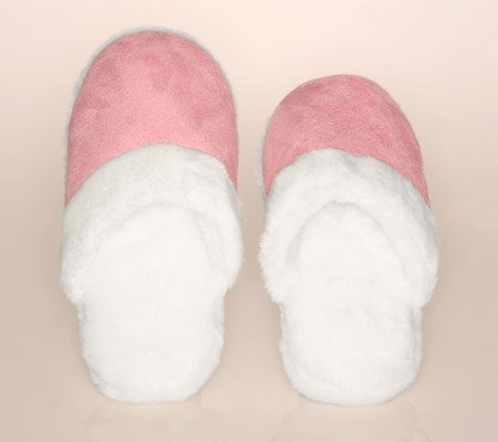 Cheap Lady's Memory Foam Suede Fur Trimmed Slipper Pink (B008PKLW4A)