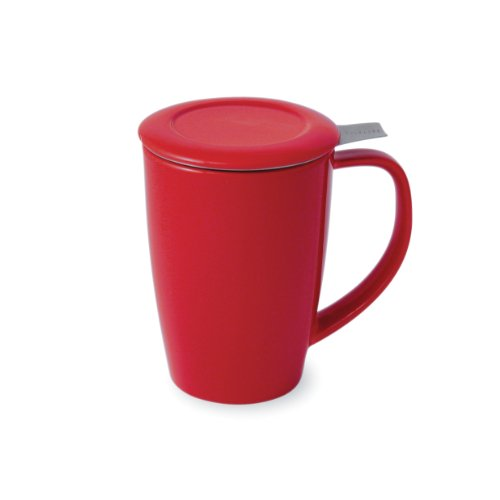 Check Out This FORLIFE Tall 15-Ounce Tea Mug with Infuser and Lid and Lid, Red