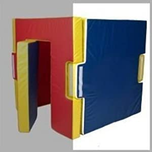 Foamnasium Foam Home Wall, Red/Blue/Yellow