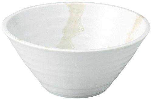 美濃焼 麺鉢・丼 しぶき 切立丼 白 K80314