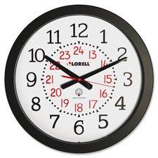 Military Wall Clock,12/24 Hour,14-3/4\