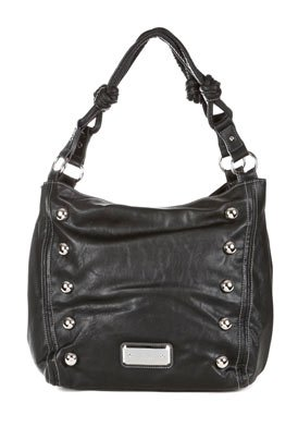 No Rules Black Faux Leather Shoulder Bag: Black Shoulder Bag