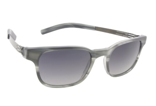 ic! Berlin Sunglasses Klavierspieler Klaus Smoke/Graphite with Grey/Black Nylon Glass