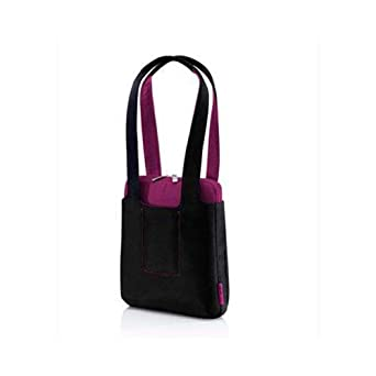 Belkin F8N187-012 Netbook Women's Tote - (Pitch Black/Fuchsia)