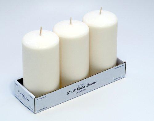 3 x 6 Pillar Candles (Bulk 12Pcs) Ivory