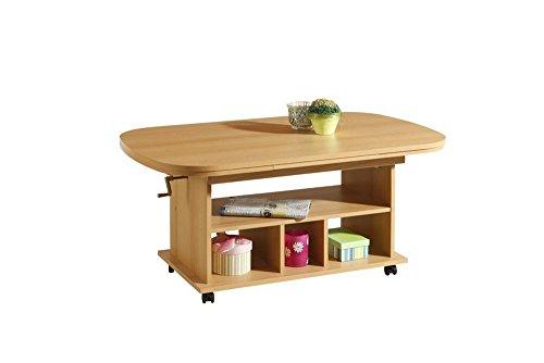 Couchtisch-Tisch-Wohnzimmertisch-Salontisch-Sofatisch-Kaffeetisch-Buche-Nb-hhenverstellbar-ausziehbar-Ablage-Rollen-ca-107-15753-6367cm