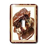 Susan Brown Designs Dessert Themes - Hot Fudge Sundae Cake - Light Switch Covers - single toggle switch