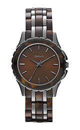 DKNY Brooklyn Gunmetal & Tort with Crystals Women's watch #NY8701