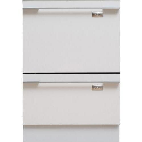 Fisher & Paykel DishDrawer Tall Series DD24DTI7 Semi-Integrated Double DishDrawer with 14 Place Settings, 9 Cycles, Eco Option, 163 Degree Sanitizing Temperature, Delay Start and Adjustable Racks: Requires Custom Panels/Handle