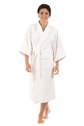 Terry Cloth Bathrobe Robe For Women Best Christmas Gifts For Her Holiday Xmas Gift Ideas - Women'S 0050 S/M, Natural White front-347751