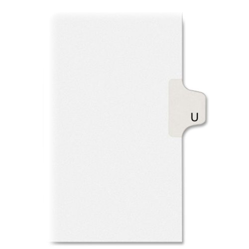 allstate-style-legal-side-tab-divider-title-u-letter-white-25-pack